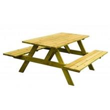 Stôl s lavicami k exteriérovej učebni