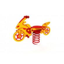 Pružinová hojdačka Motorka žltá