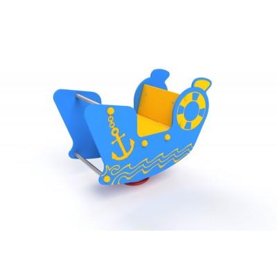 Pružinová hojdačka Motorový čln 3D