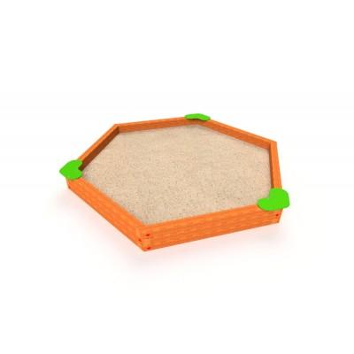 Pieskovisko Hexagonal 2,7 x 3m lamino