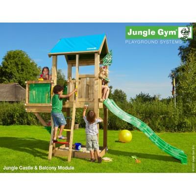 Jungle Gym Castle Balcony so šmýkačkou
