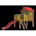 Drevené hracie altánky a domčeky