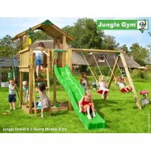 Jungle Gym Chalet 2-Swing so šmýkačkou