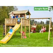 Jungle Gym Playhouse XL 2-Swing so šmýkačkou