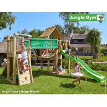 Jungle Gym Cubby Bridge so šmýkačkou