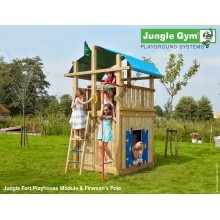 Jungle Gym Fort Playhouse & fireman´s