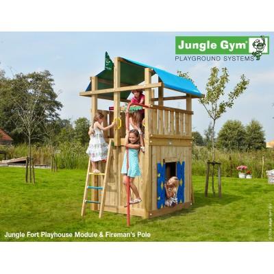 Jungle Gym Fort Playhouse & fireman´s