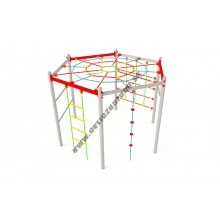 Kovová preliezačka Hexagonal s pavúčiou sieťou