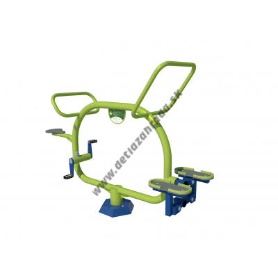 Outdoor fitness Bicykel a Stepper pre 2 deti