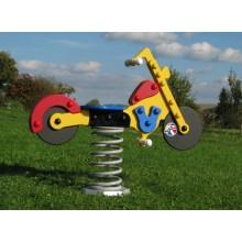 Pružinová hojdačka Motorka