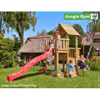 Jungle Gym Cubby Firemans pole