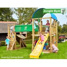 Jungle Gym Farm Bridge so šmýkačkou