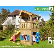 Jungle Gym Home Playhouse so šmýkačkou