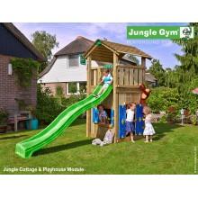 Jungle Gym Cottage Playhouse so šmýkačkou