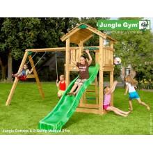 Jungle Gym Cottage 2-Swing so šmýkačkou