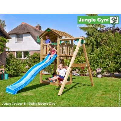 Jungle Gym Cottage 1-Swing so šmýkačkou