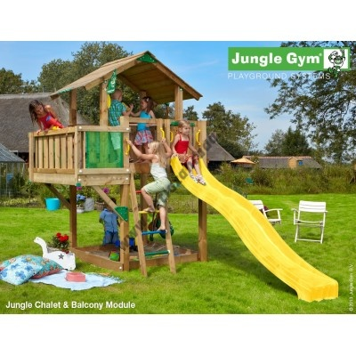 Jungle Gym Chalet Balcony so šmýkačkou