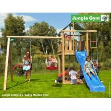 Jungle Gym Lodge 2-Swing so šmýkačkou