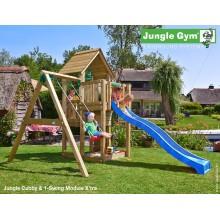 Jungle Gym Cubby 1-Swing so šmýkačkou