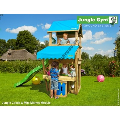 Jungle Gym Castle Mini Market so šmýkačkou