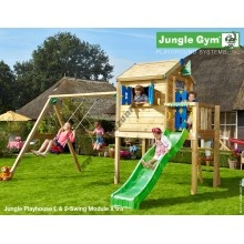 Jungle Gym Playhouse L 2-Swing so šmýkačkou